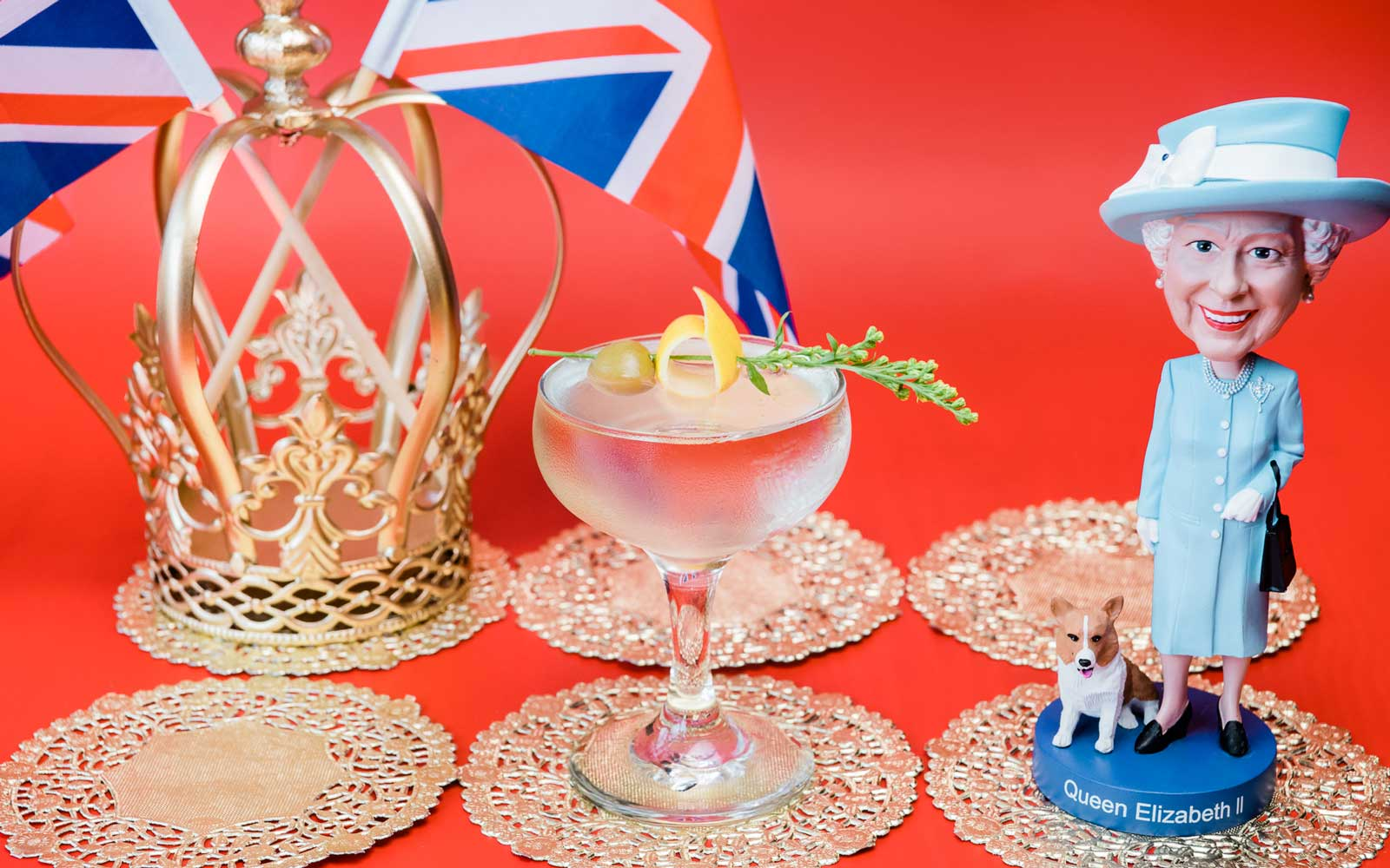 'God Save the Queen' is one of 11 original cocktails at Drink Company's Royal Wedding PUB, running May 4-20