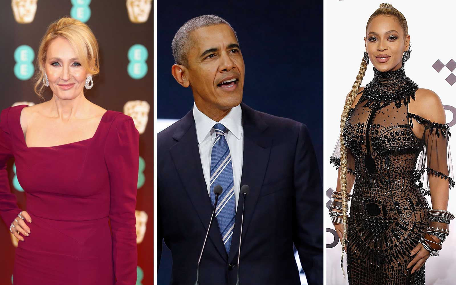 JK Rowling, Barack Obama, and Beyonce
