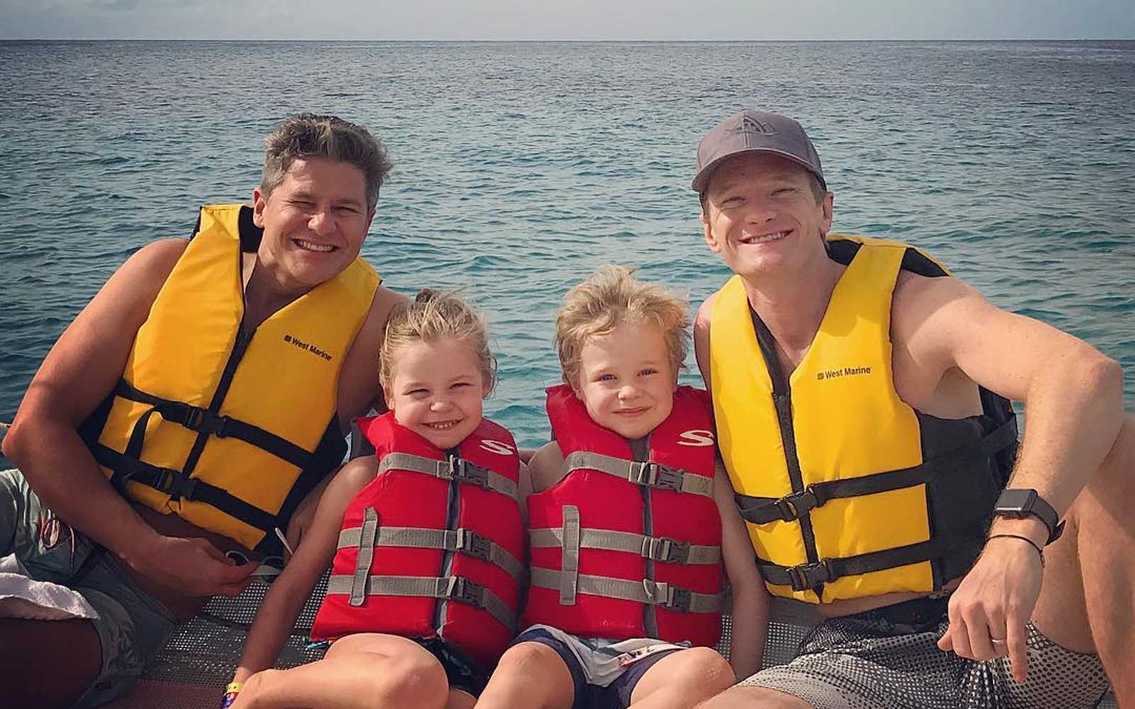 David Burtka, Harper Grace, Gideon Scott, and Neil Patrick Harris
