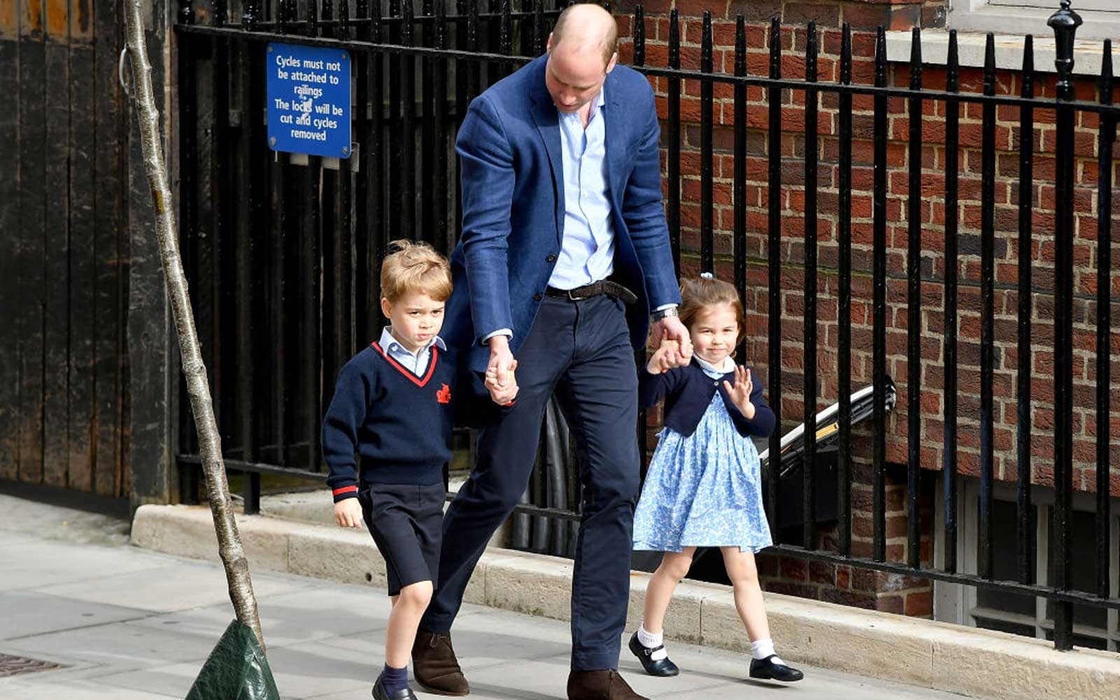 Watch Prince George and Princess Charlotte Visit Their New Baby Brother