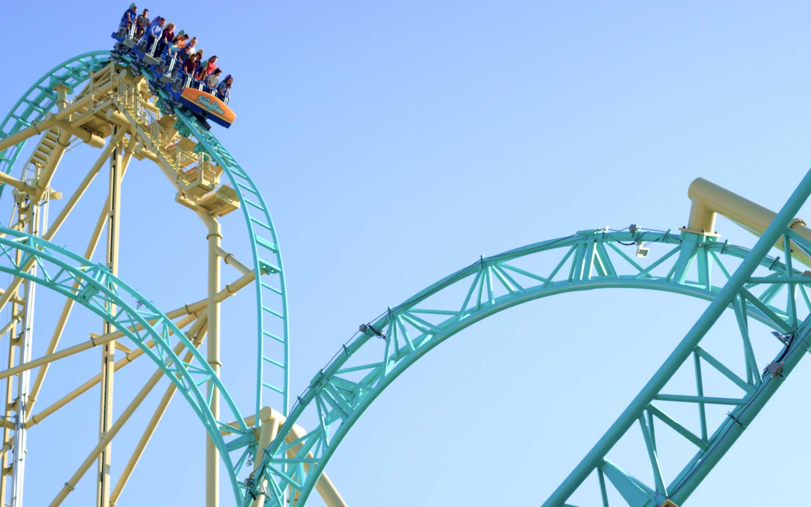 Hang Time Is the First Dive Coaster in California — and It's Terrifying