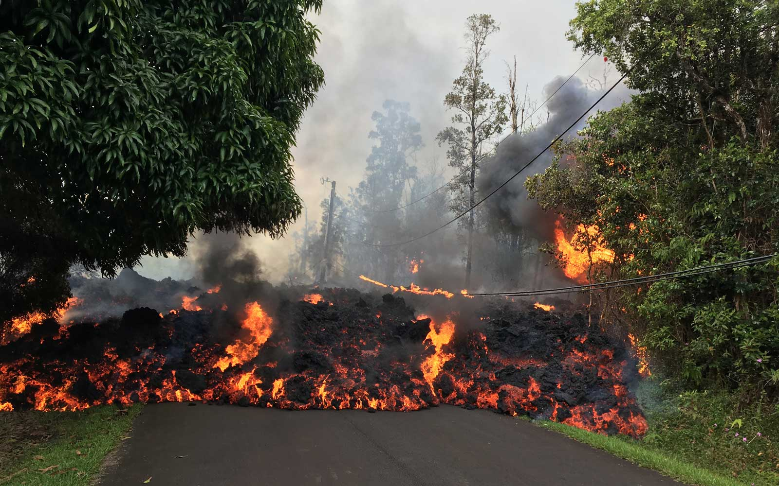Hawaii volcano destroys dozens of structures