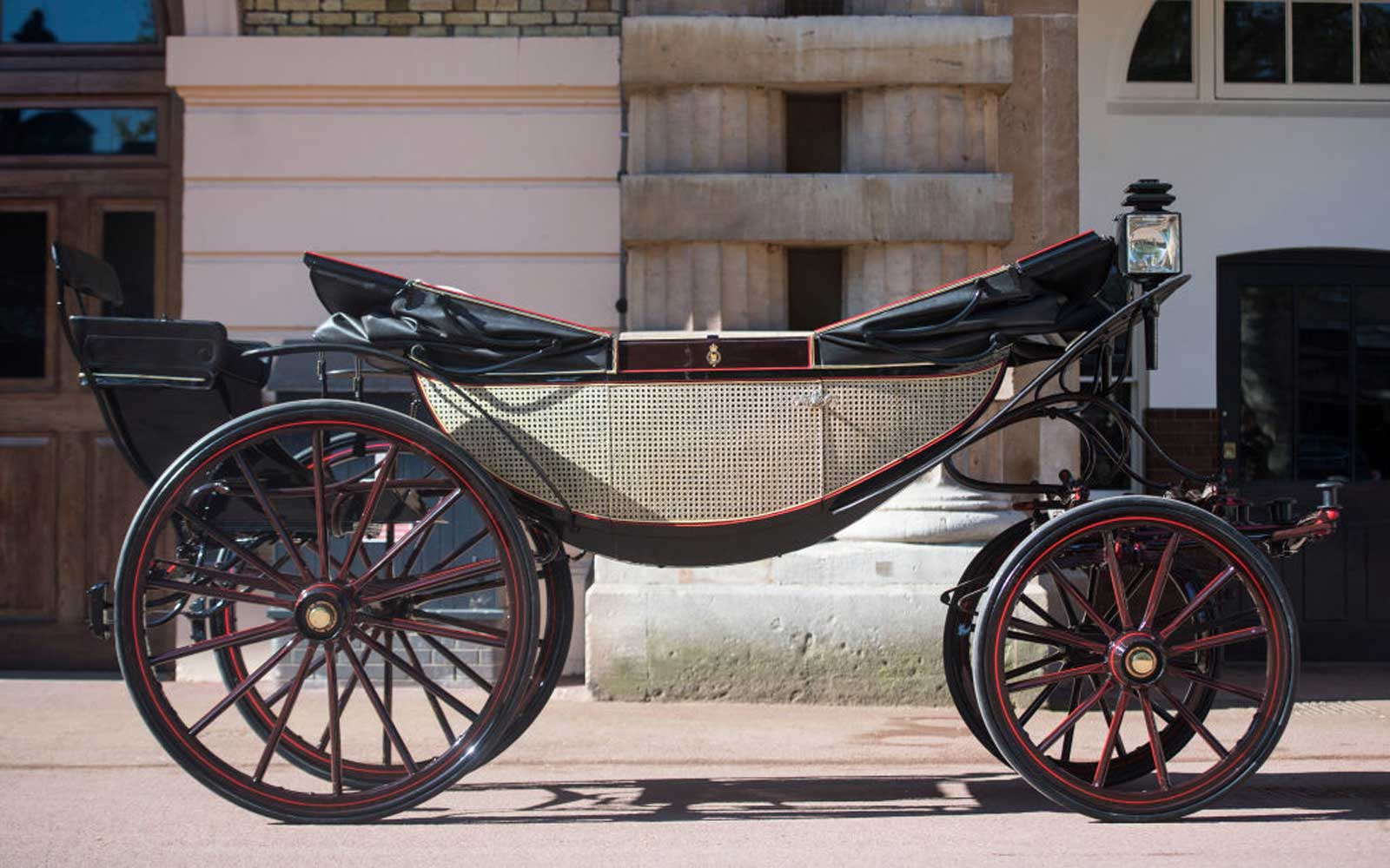 The Ascot Landau, which will be used in the case of dry weather for the wedding of Prince Harry and Meghan Markle