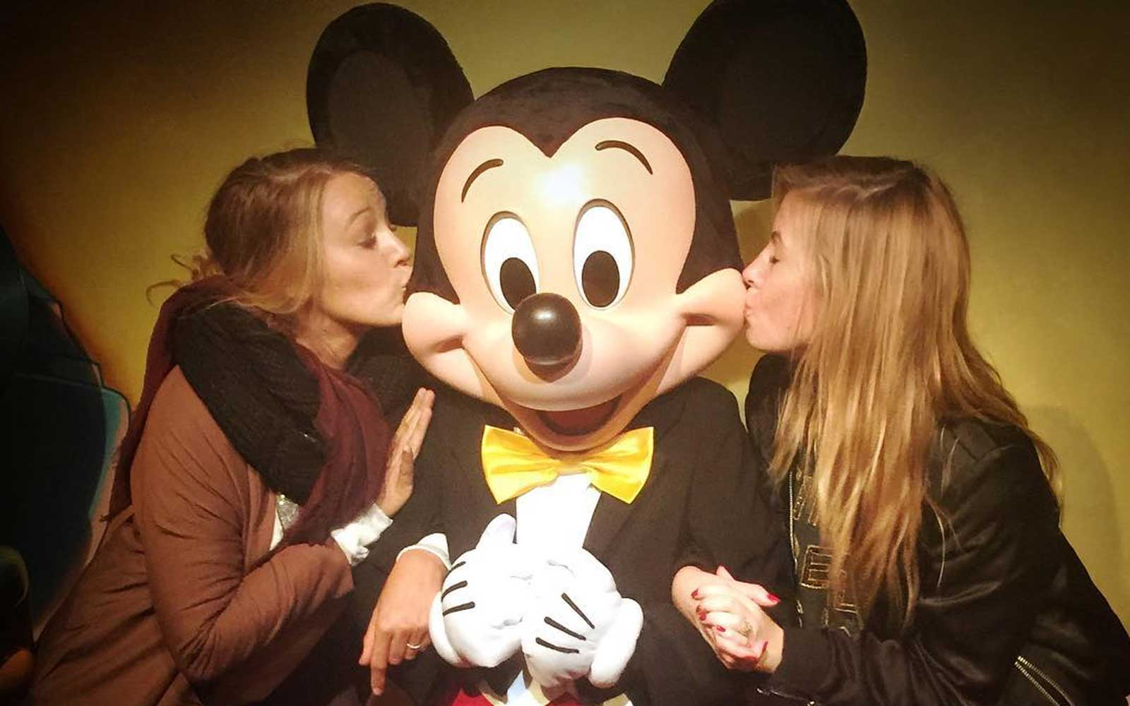 Blake Lively and Sam Stone with Mickey Mouse