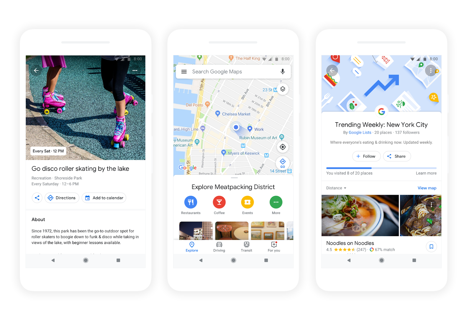 Google Maps Is Personalizing Dining and Activity Recommendations, and Will Even 'Match' You to Restaurants