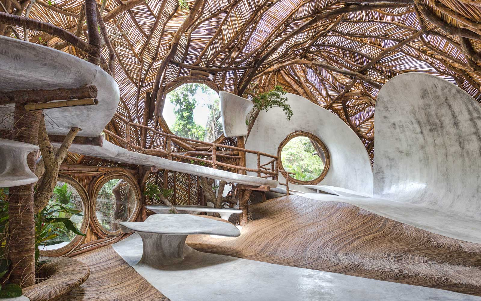 Tulum's Newest Art Gallery Is in a Treehouse — and You Have to Take Off Your Shoes to Enter