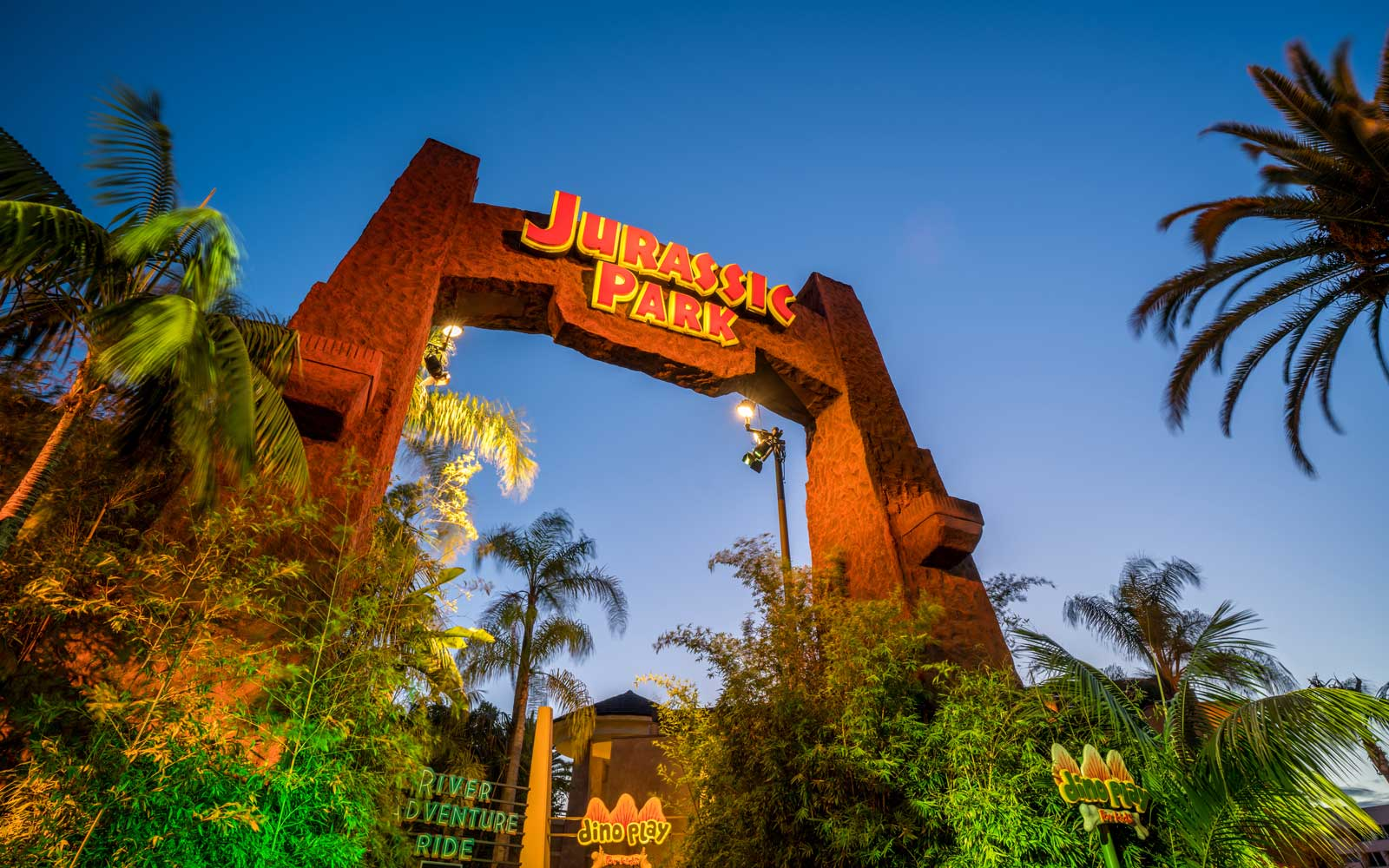 Existing Jurassic Park ride at Universal Studios Hollywood