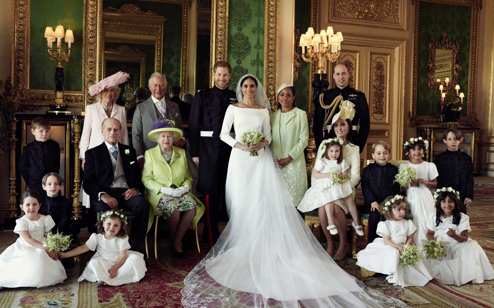 Prince Harry and Meghan Markle's Official Royal Wedding Portraits Are Here and No One Looks Happier Than Prince George