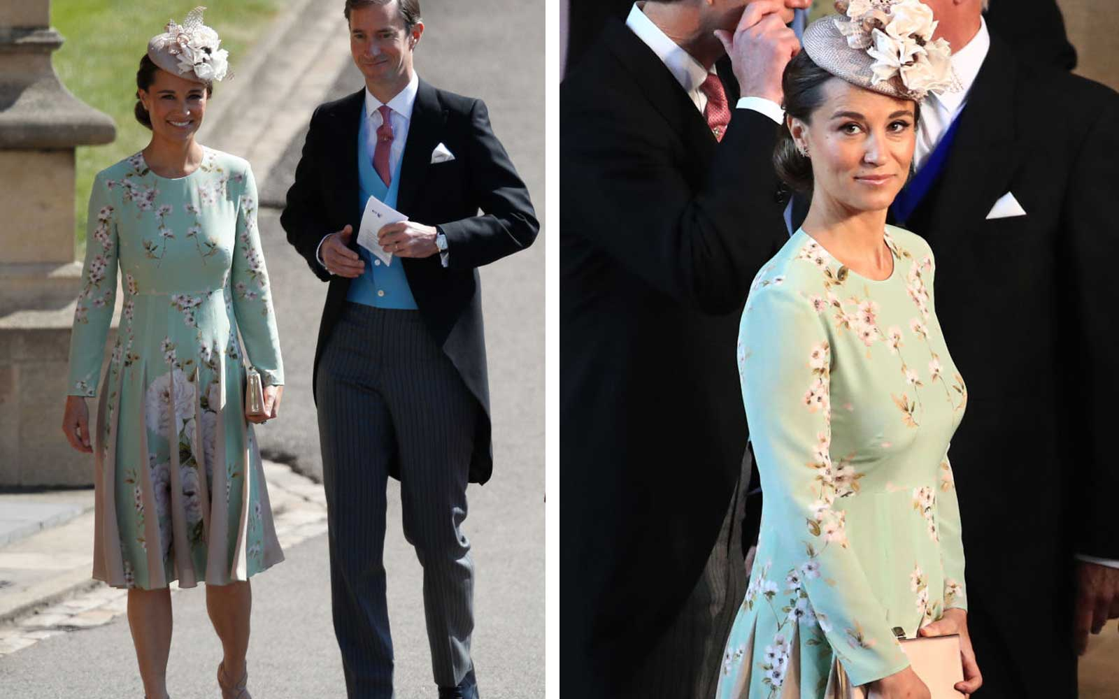 Pippa Middleton Just Arrived at the Royal Wedding and You Need to See Her Dress