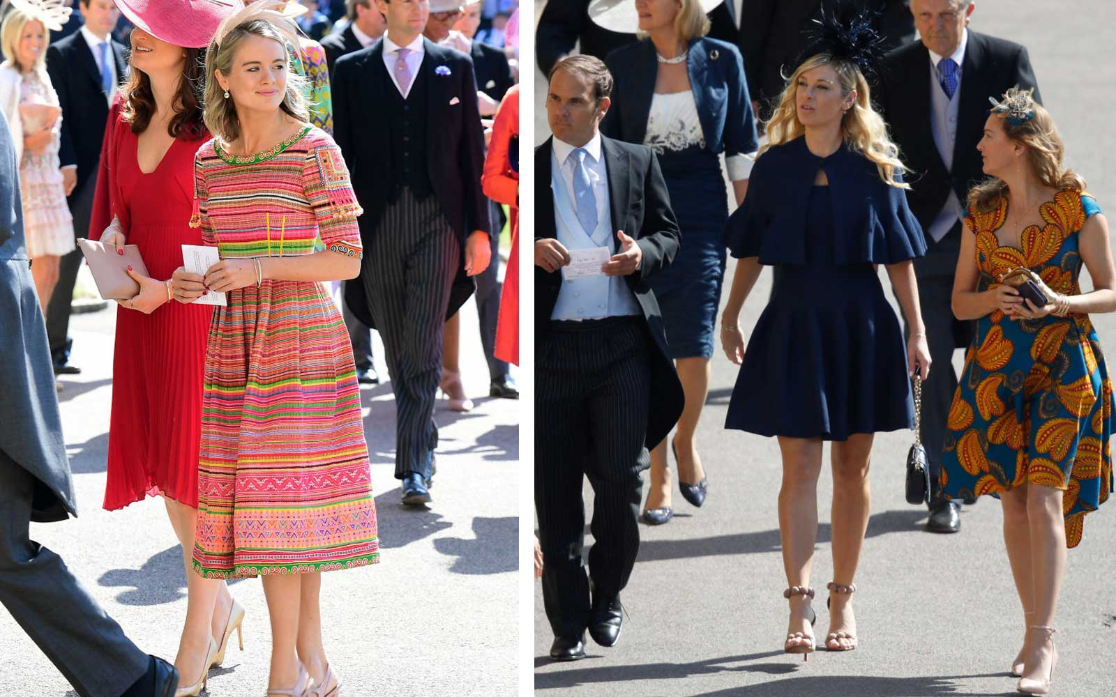 Prince Harry's ex girlfriends arrive to royal wedding