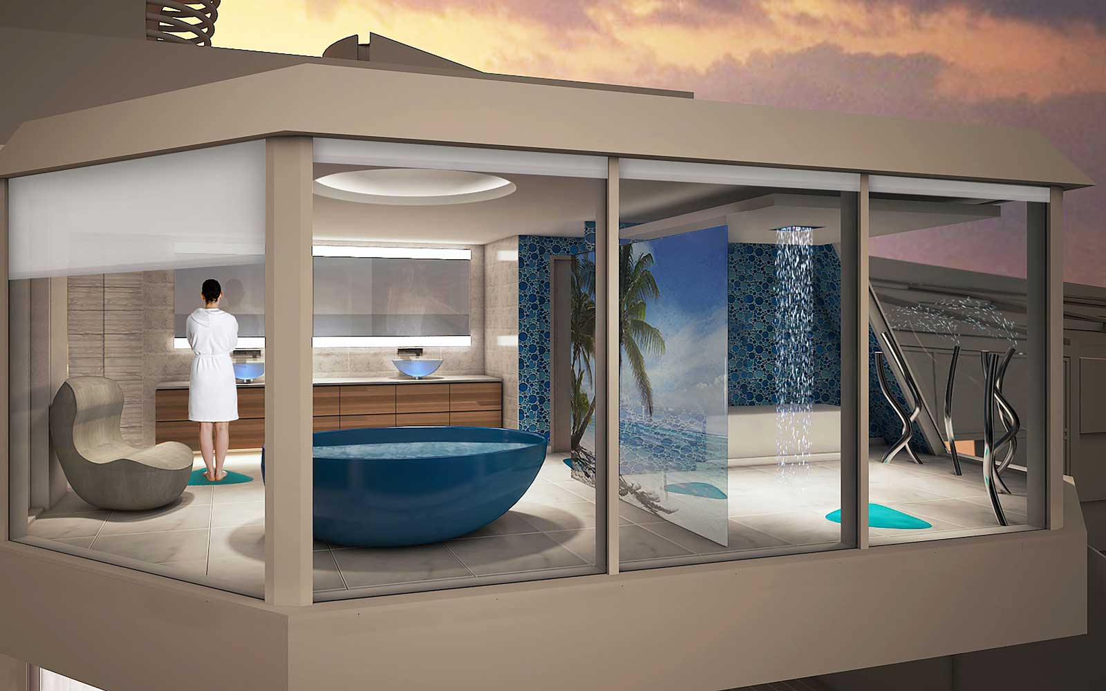 This Cruise Ship Will Have a Shower Suspended Over the Sea