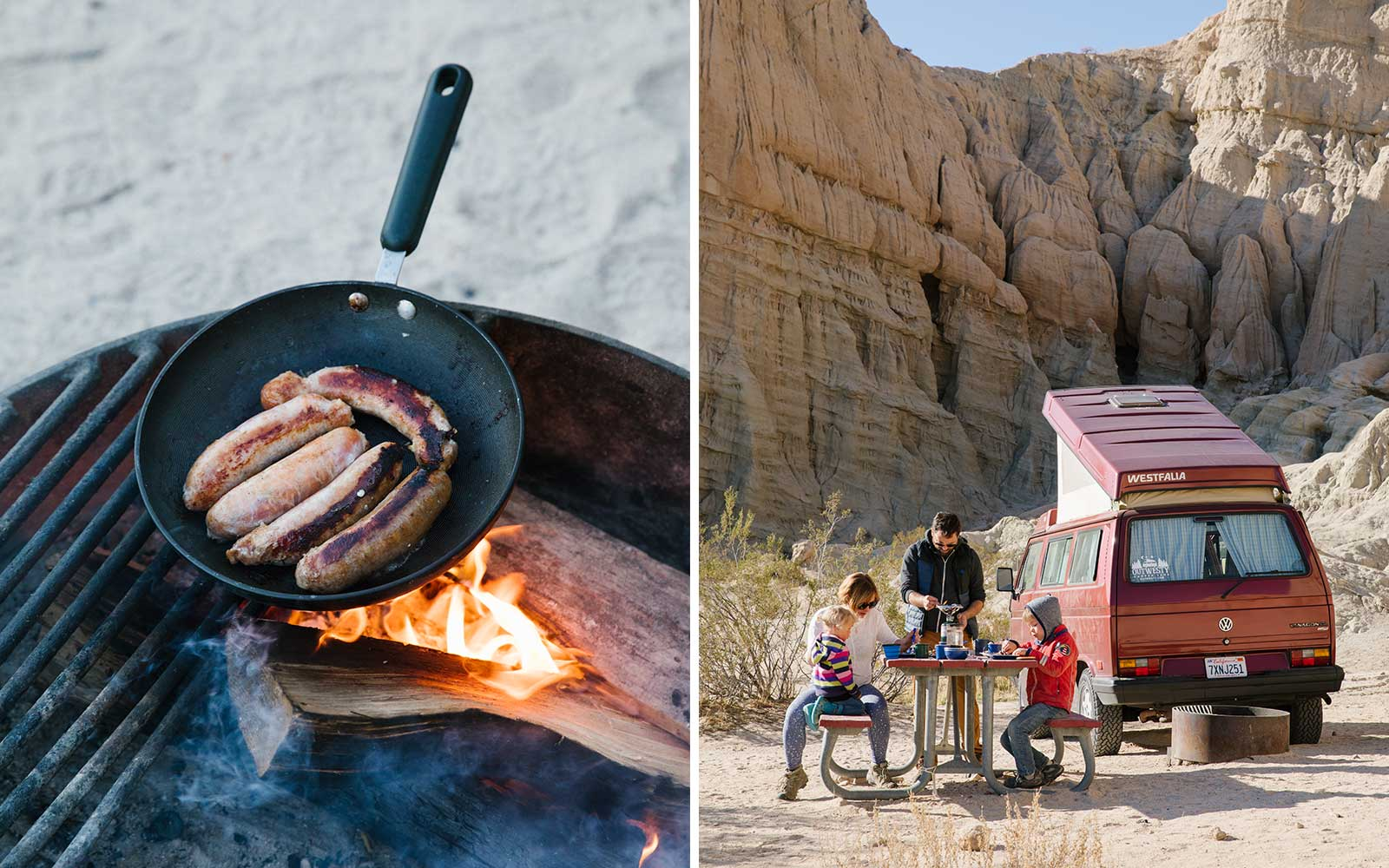 Camping in Red Rock Canyon State Park, in California