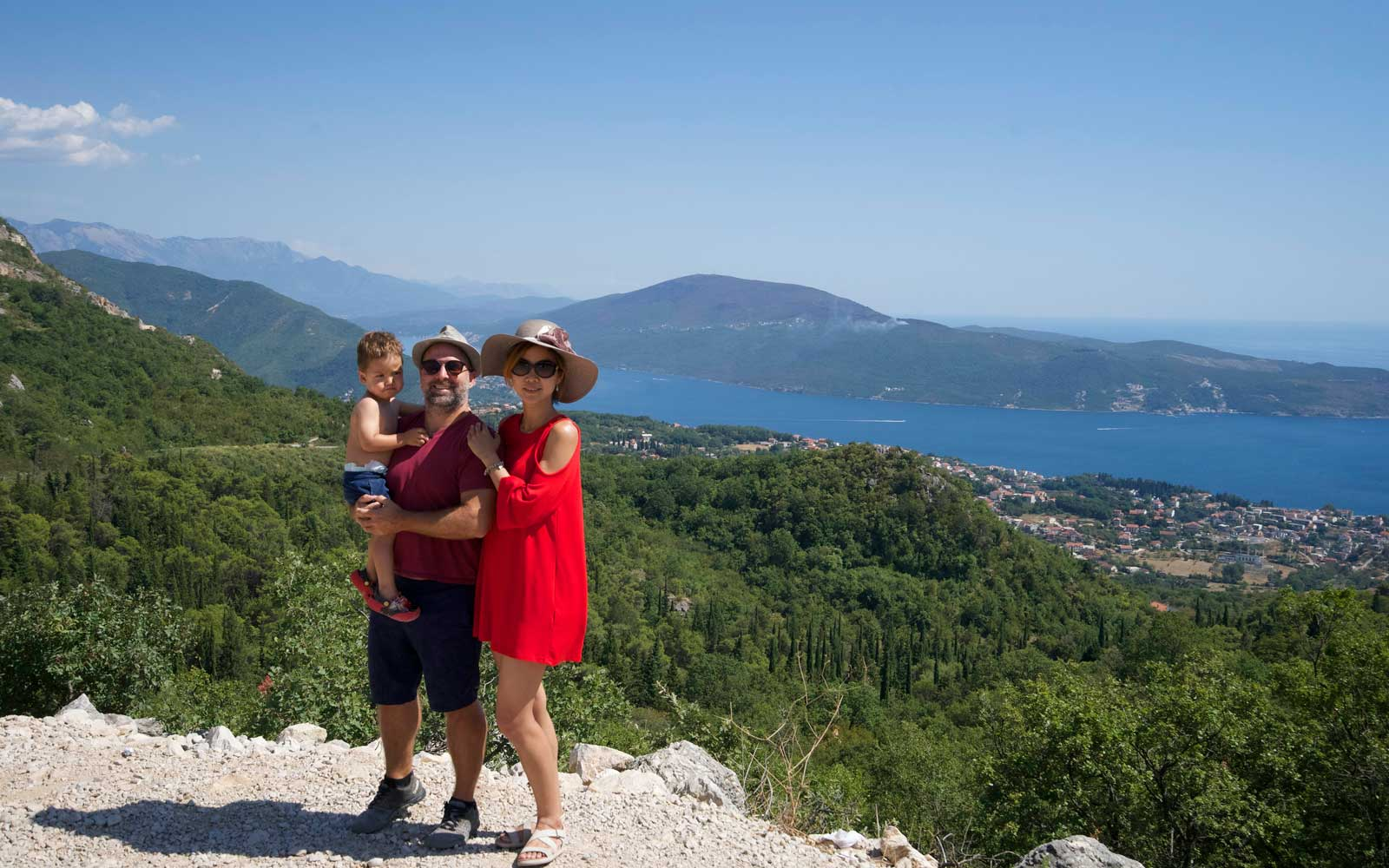 Jeremy, Winnie, and Julian in Montenegro