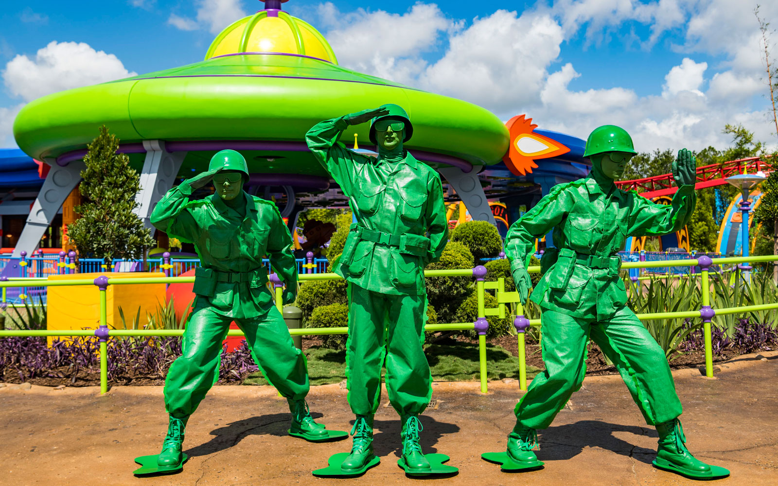 Toy Story Land at Disney's Hollywood Studios will include an army of green men.