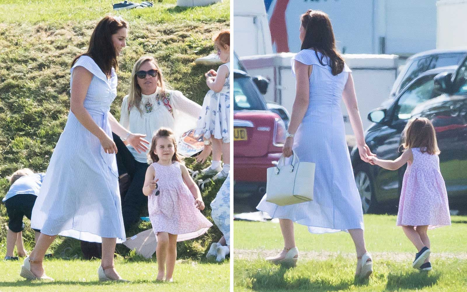 Kate Middleton and Princess Charlotte at the Maserati Royal Charity Polo Trophy