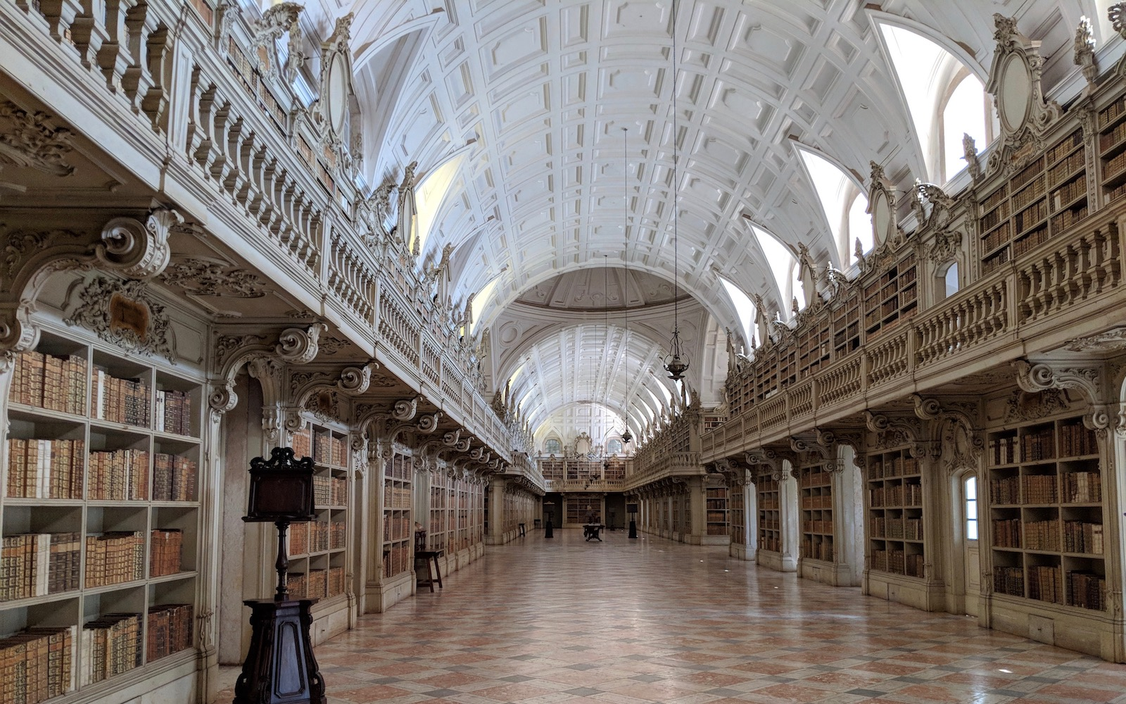 Mafra Palace Library in Portugal