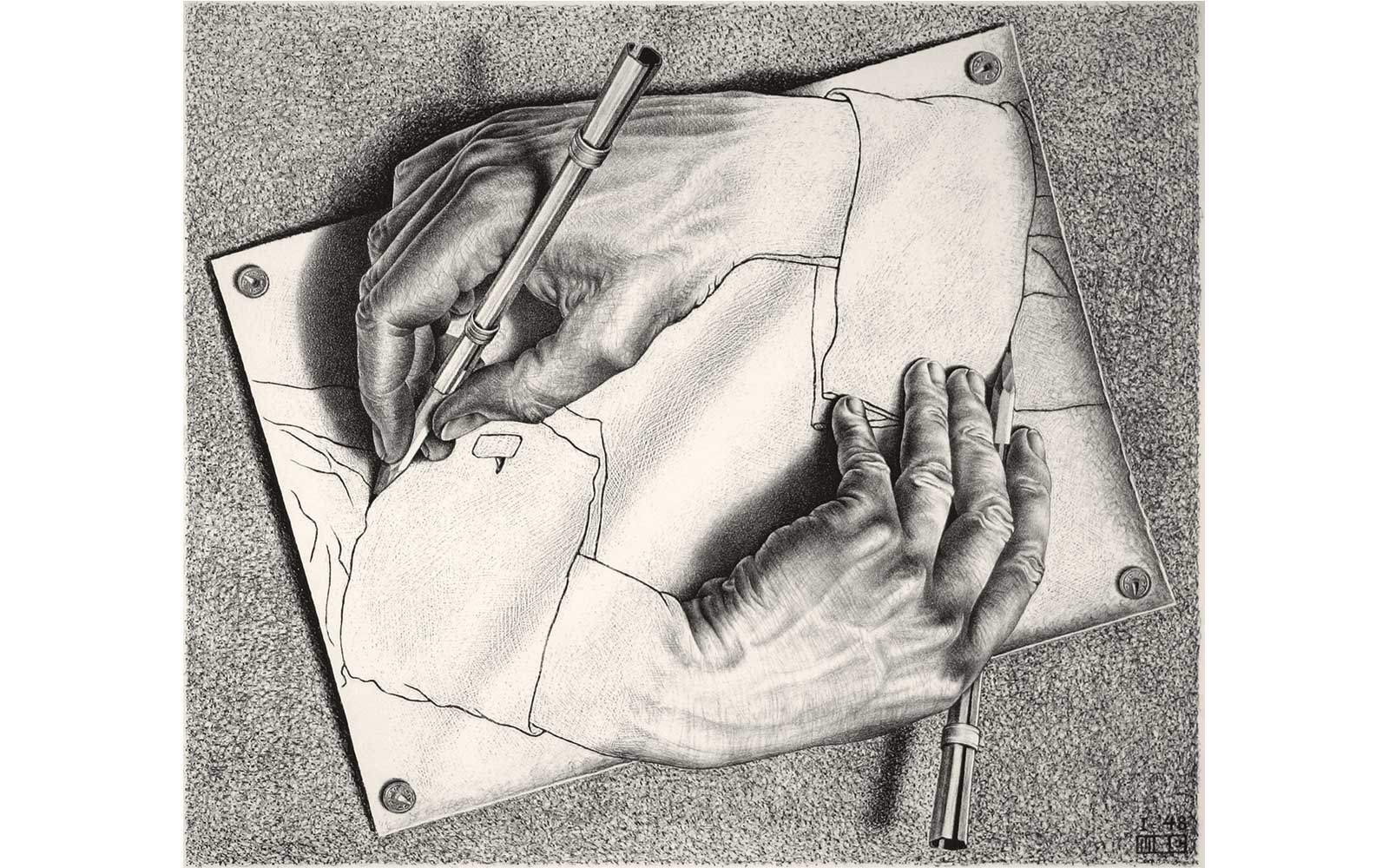 Darwing Hands, by M.C. Escher