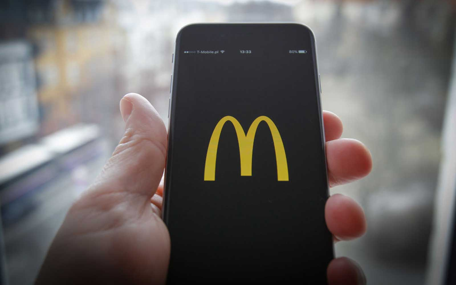McDonalds app on an iPhone.