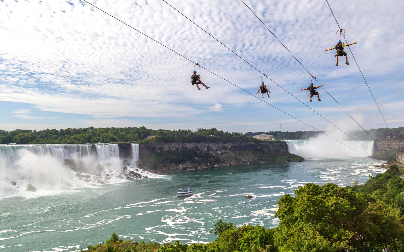 Fly Across Niagara Falls on an Exhilarating Zip Line This Summer