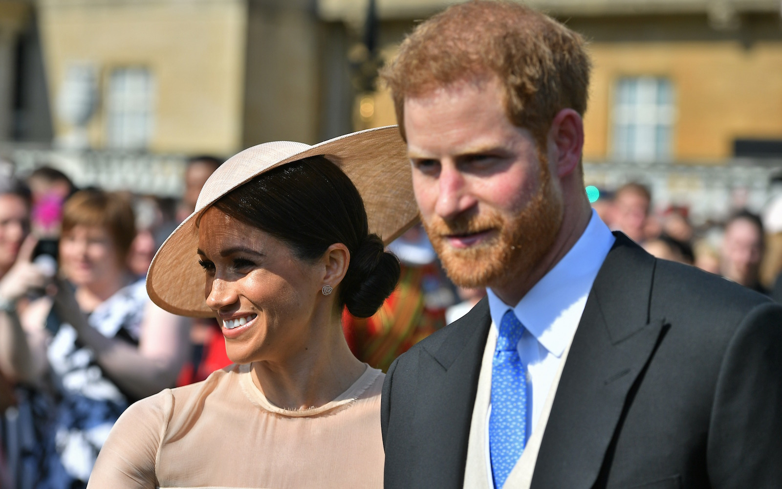 Meghan Markle and Prince Harry at their first official outing after the royal wedding