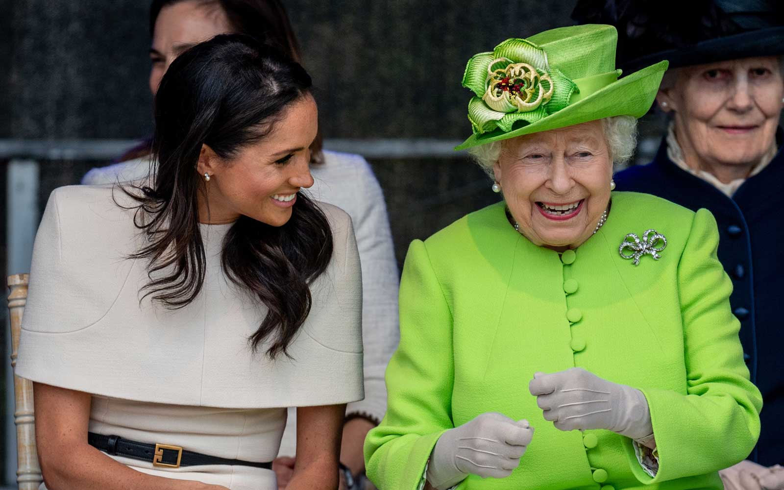 The Queen Has Never Looked Happier Than She Does on Her Solo Outing With Meghan Markle