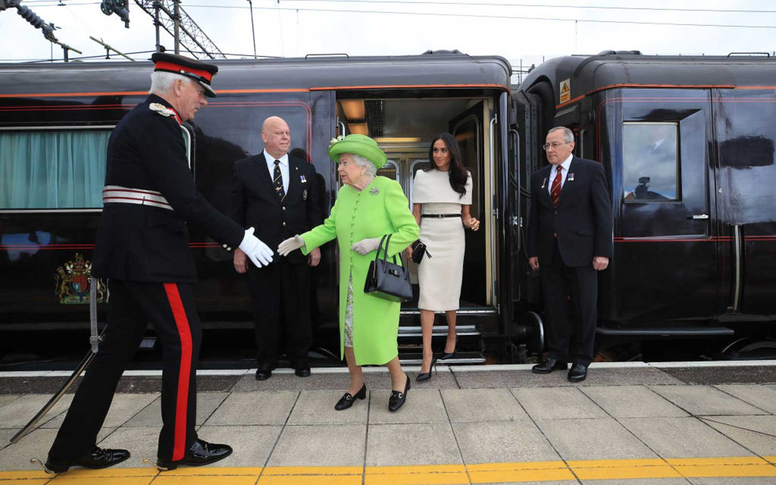 Inside the Royal Train That Meghan Markle and Queen Elizabeth Are Sleeping Aboard Tonight