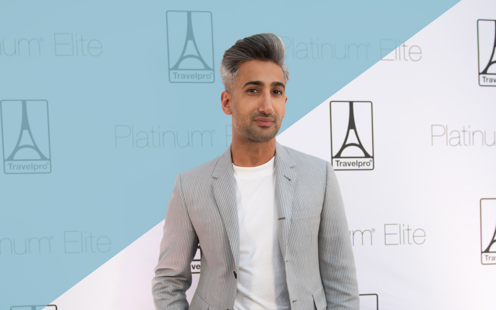'Queer Eye' Style Expert Tan France Is Just Fine Flying in Sweats, Thank You Very Much