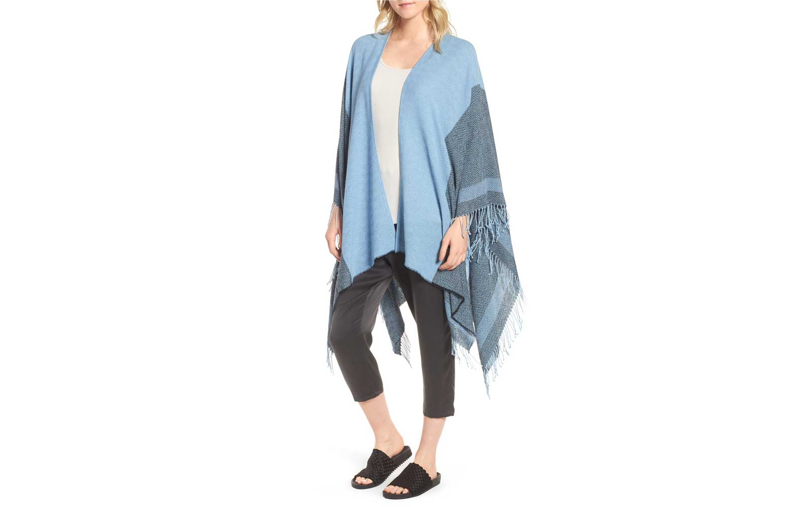 Recycled Cotton Poncho Wrap