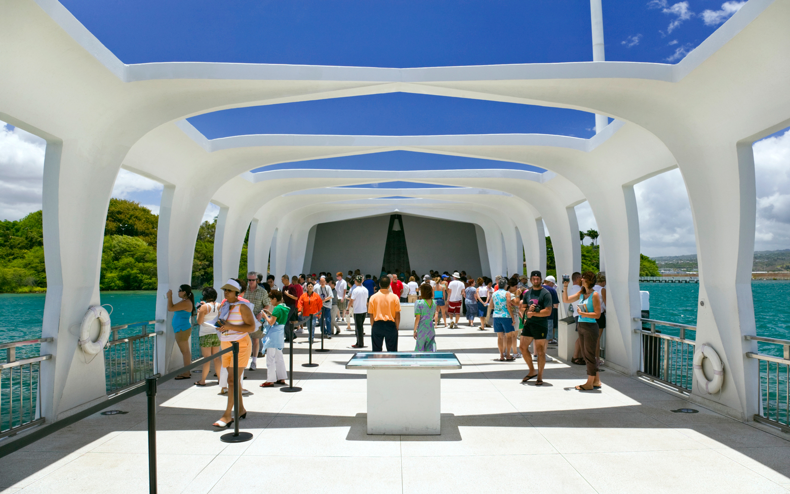 Tourists at the U.S.S. Arizona Memorial