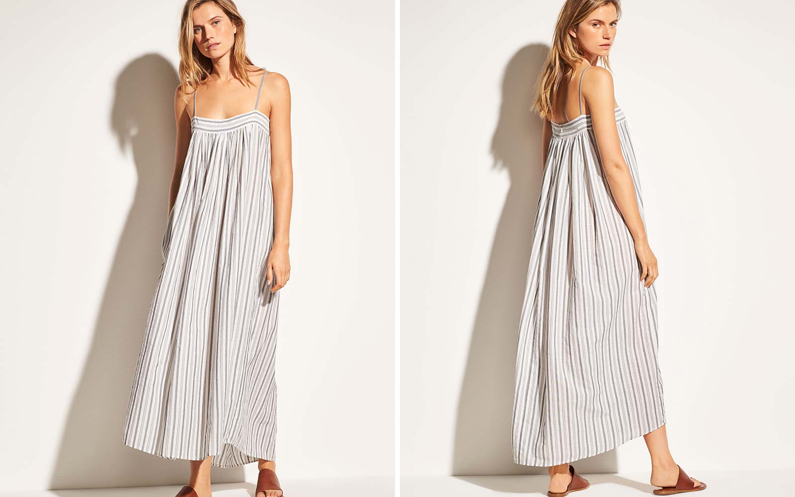 Vince Beach Capsule Collection Fashion Stripe Dress