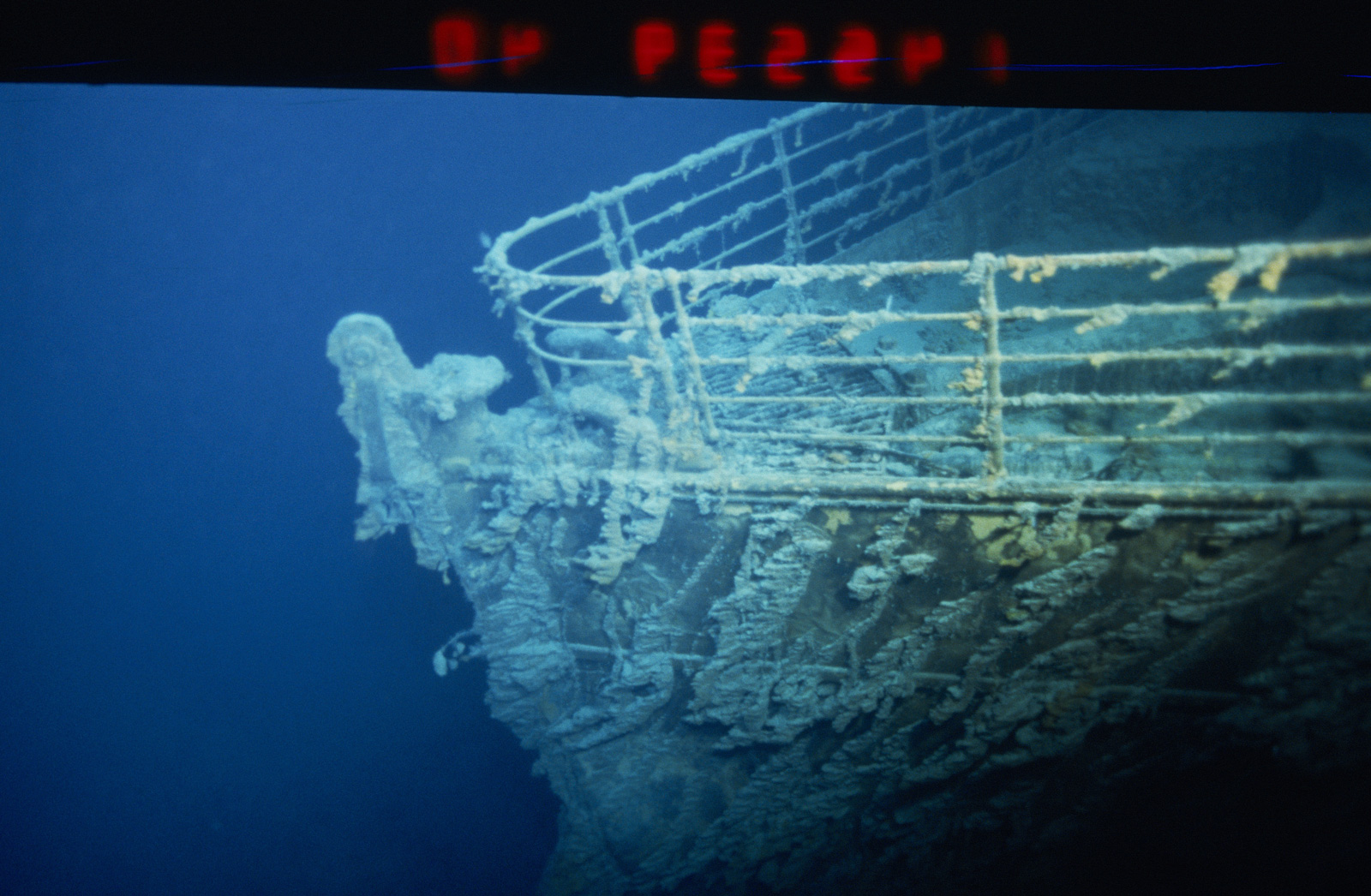 The Titanic wreck.