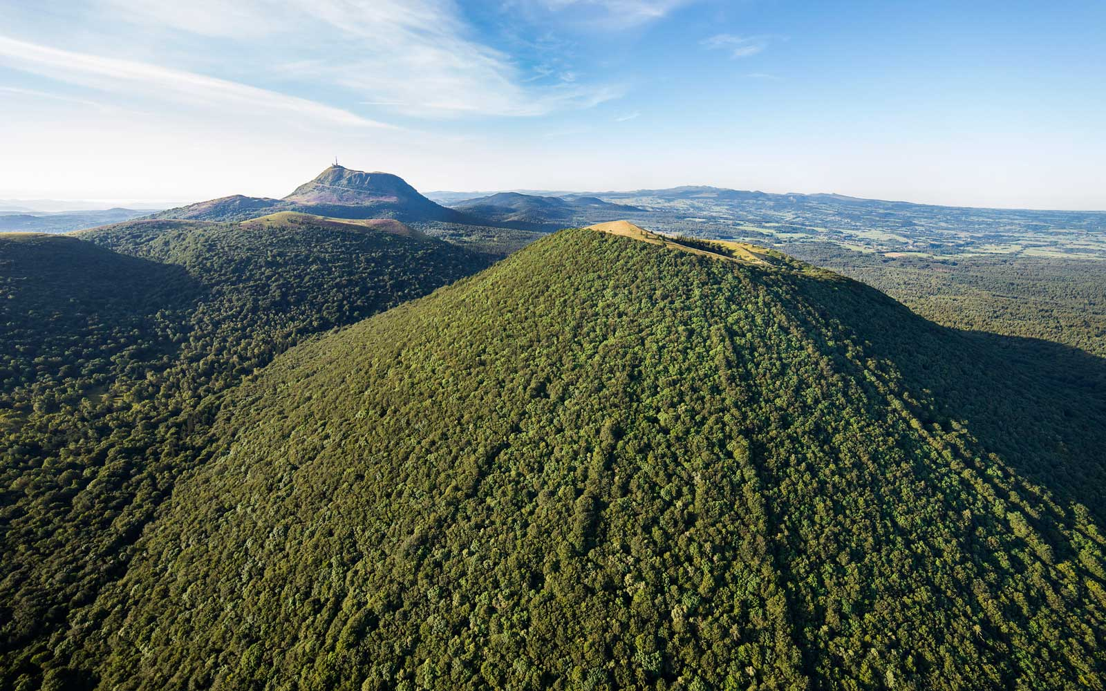 France, Puy de Dome, the Regional Natural Park of the Volcanoes of Auvergne, Chaine des Puys, Orcines, the crater of Puy Pariou volcano