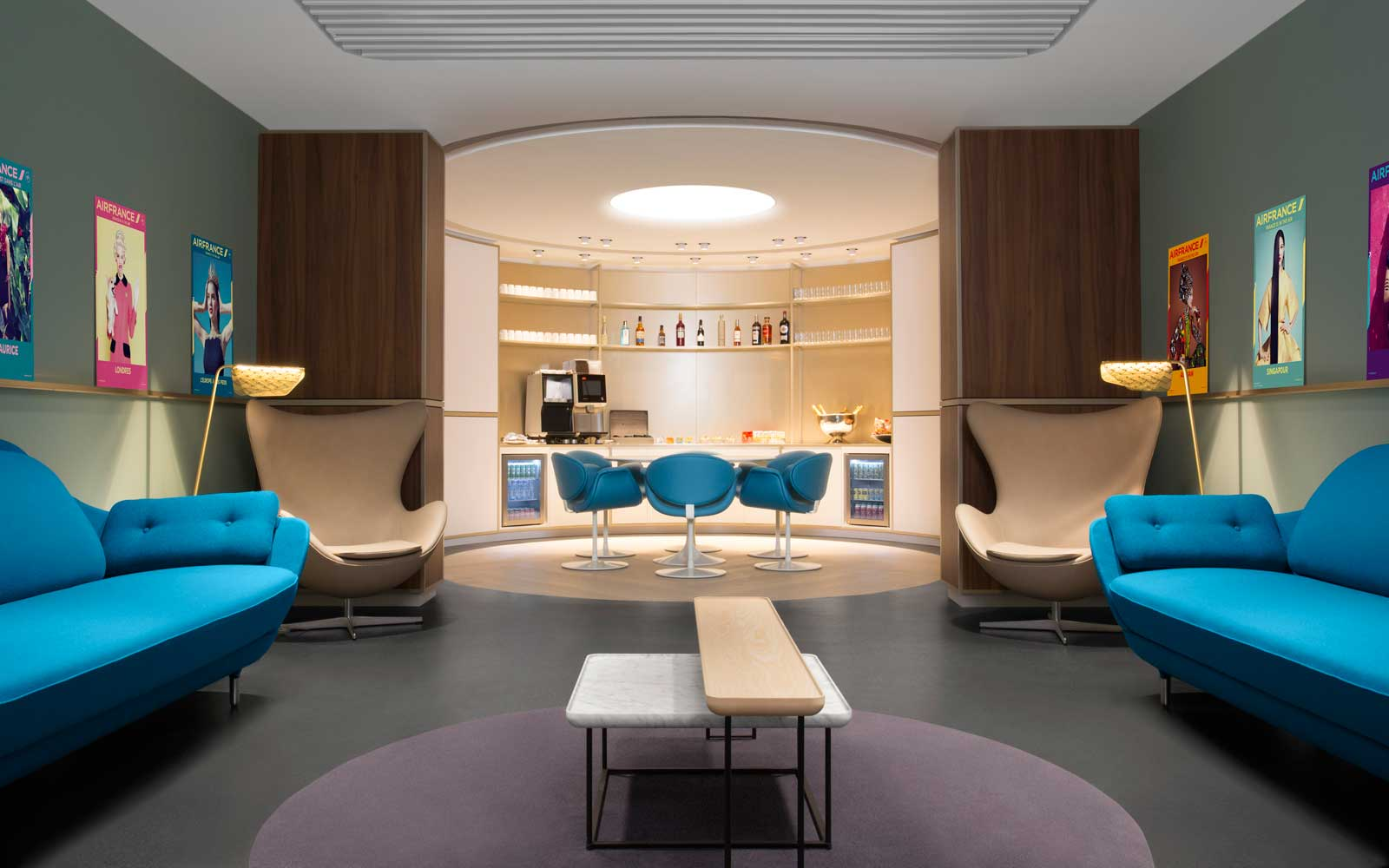 Air France's New Lounge Was Designed to Make You Feel Like You're Already Flying