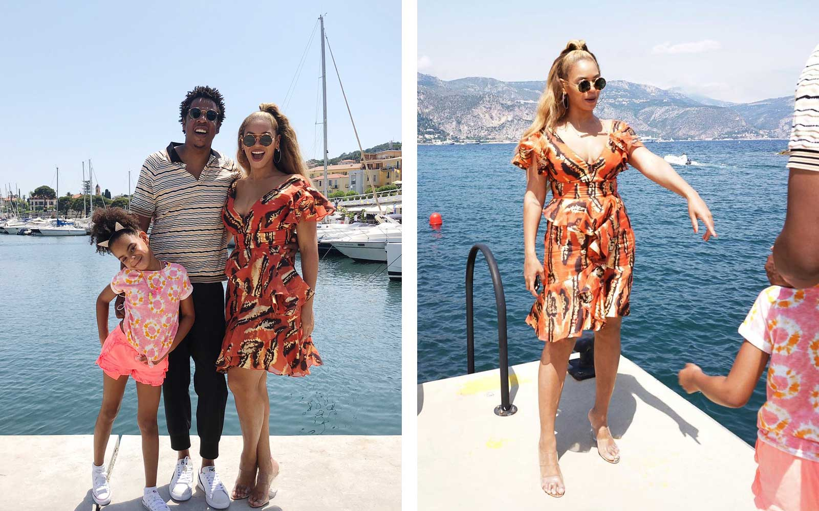 Beyoncé and Jay-Z with daughter, Blue Ivy