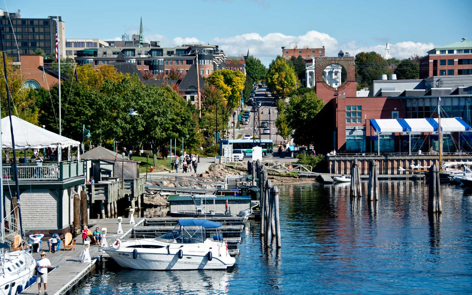 College Street from Lake Champlain in Burlington, Vermont