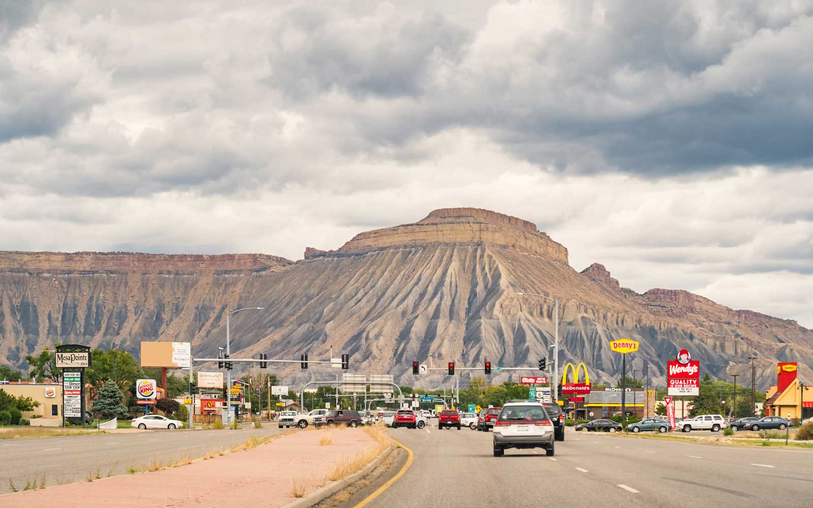 Mount Garfield and the city of Grand Junction Colorado