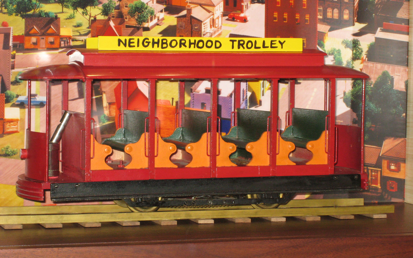 "A trolley from ""Mister Rogers' Neighborhood."""