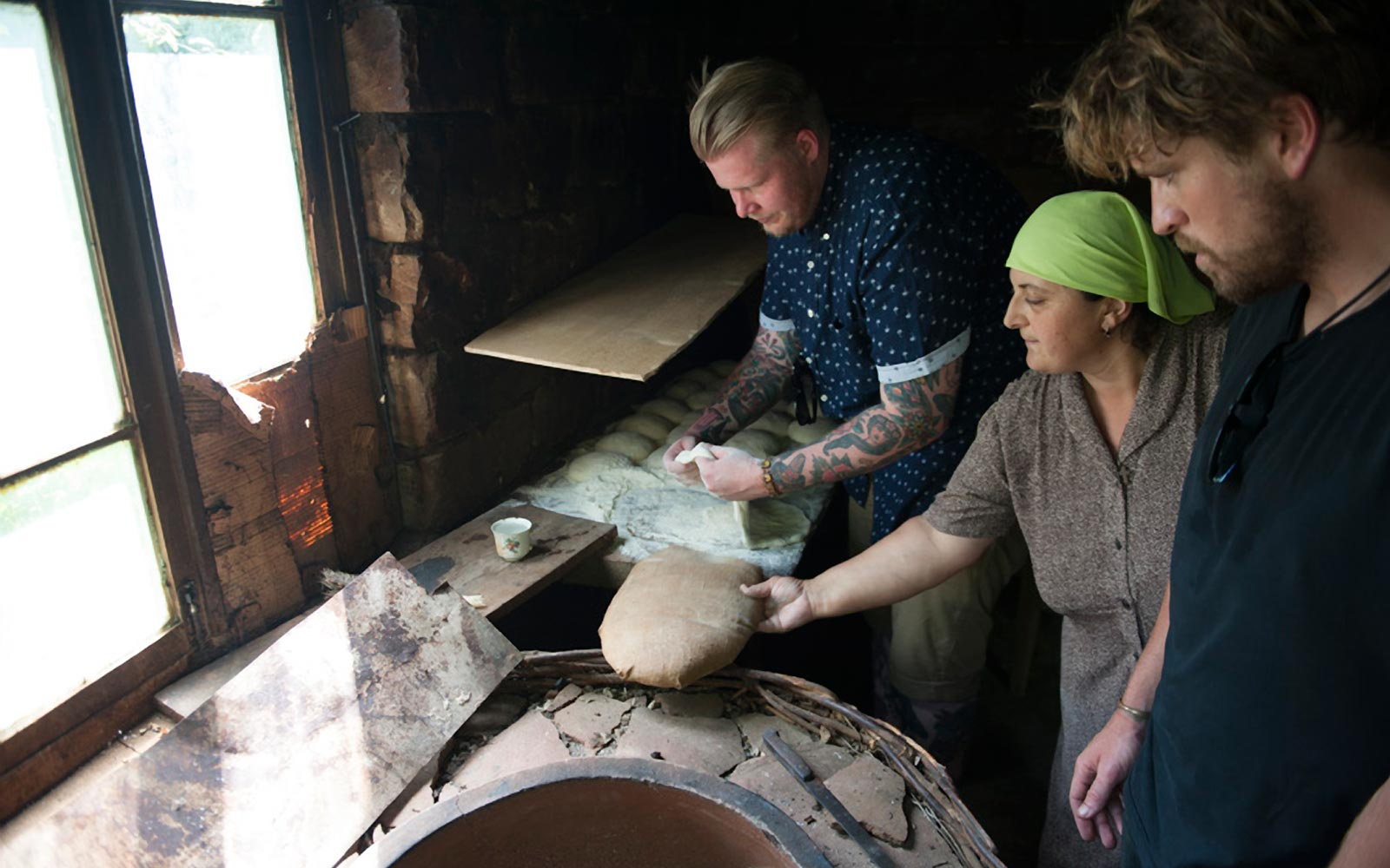 Gerald of Maydan learning to make bread in Georgia