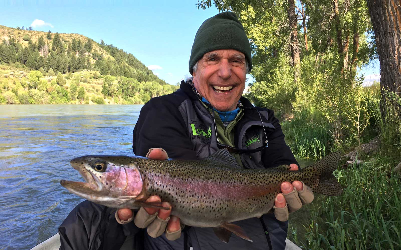 Henry Winkler fishing
