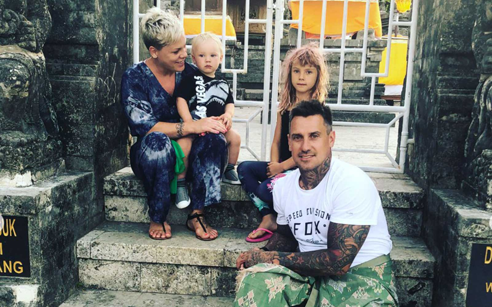 Pink and Husband Carey Hart Just Had the Best Family Vacation in Indonesia
