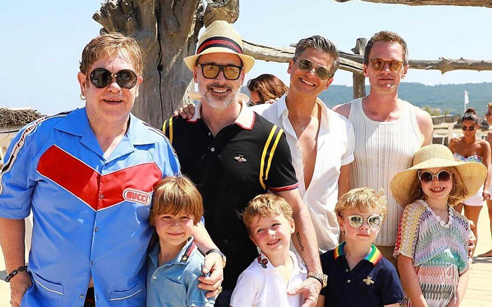Neil Patrick Harris and Elton John Took Their Families on Vacation Together and the Photos Couldn't Be Cuter