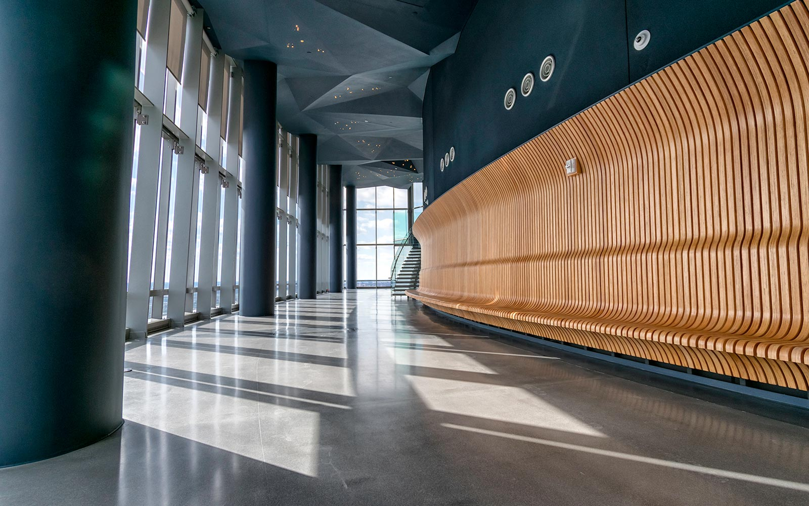 Interior of Observation Deck at CEB Tower in Arlington, VA