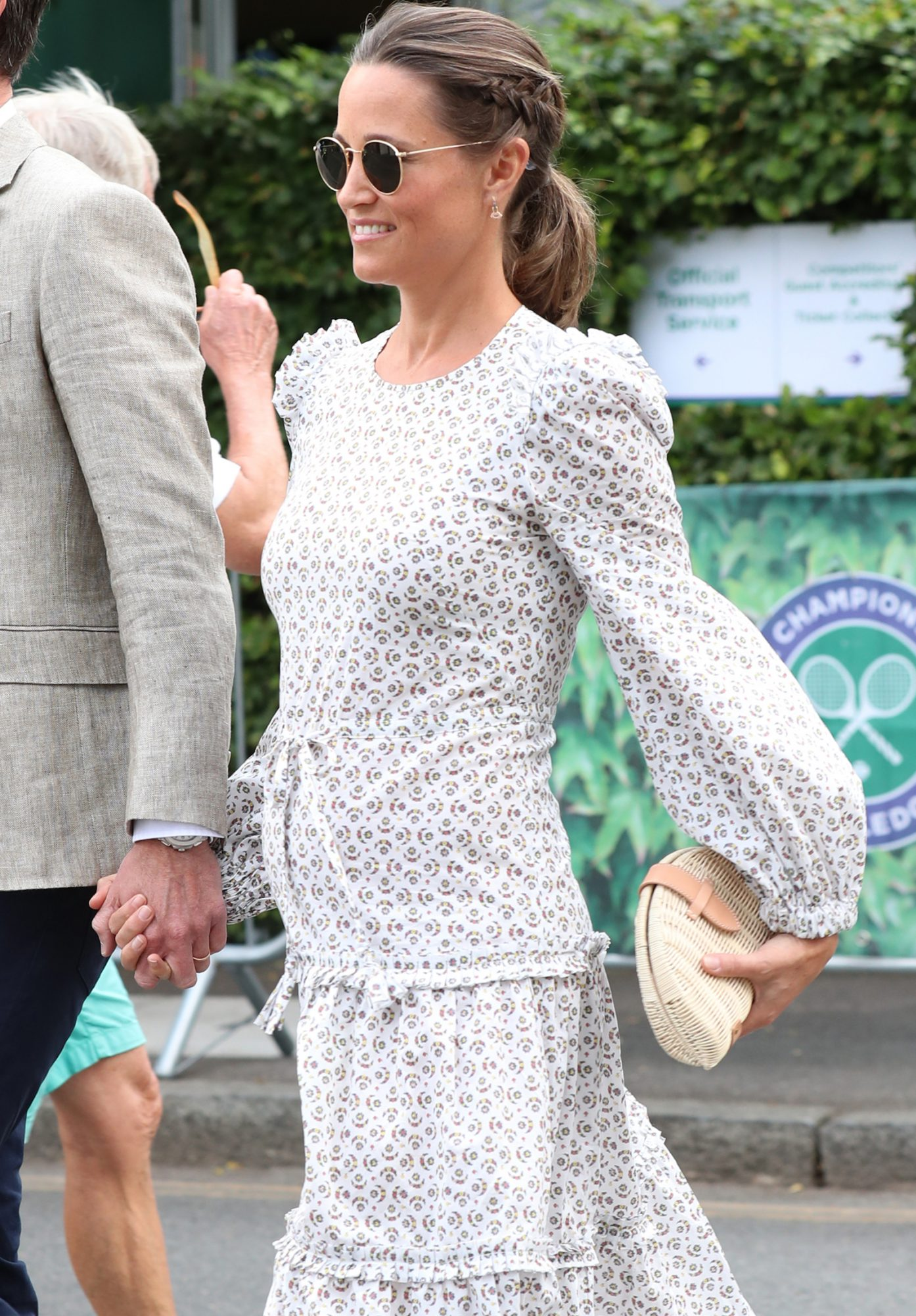 Pippa Middleton carrying J.Crew's rattan clutch