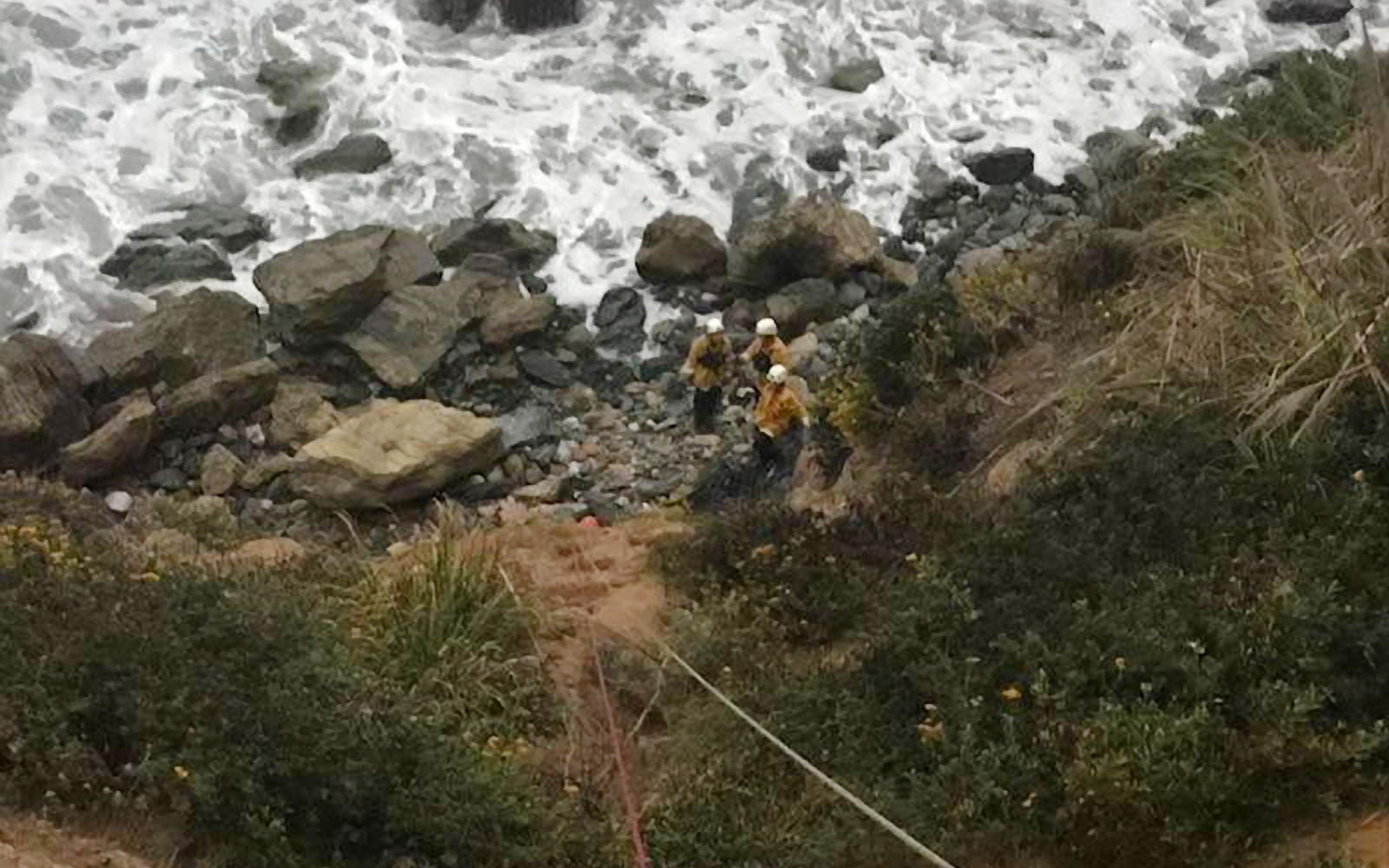 Woman found alive a week after plunging off cliff with car, Big Sur, USA - 13 Jul 2018