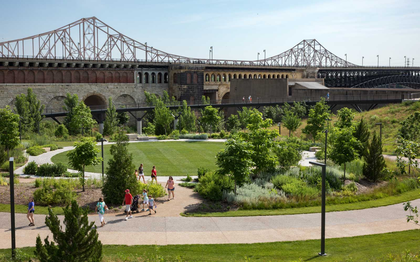 View of the new St Louis Arch Park