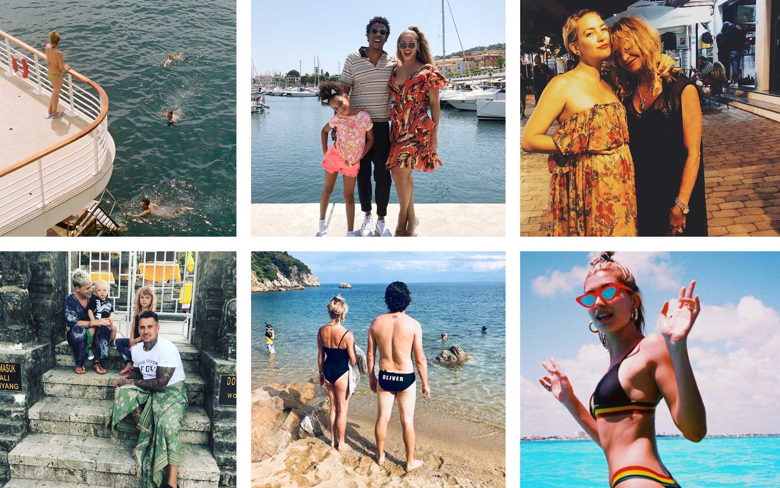 Celebrities on Summer Vacation 2018