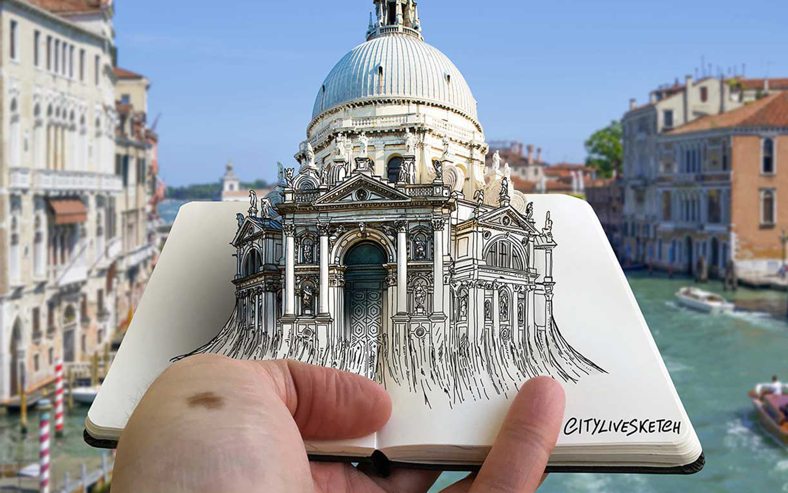 This Artist Creates Remarkable 3-D Sketches of the World's Most Beautiful Landmarks
