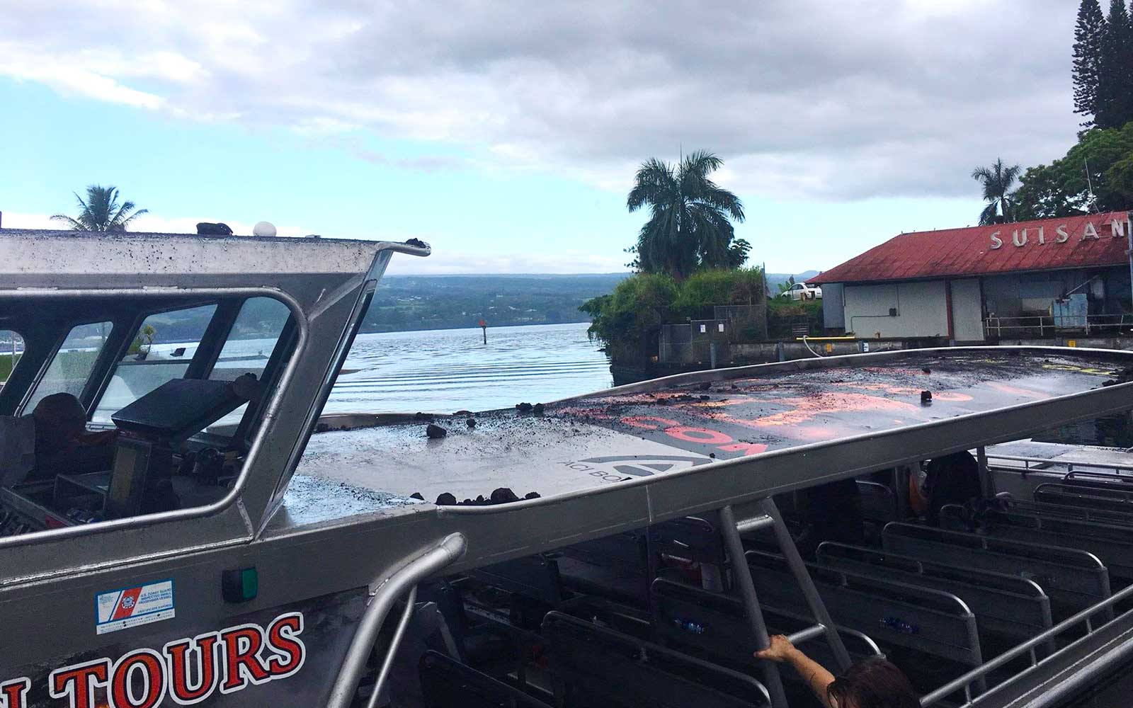 Hawaii 'Lava Bomb' Crashes Through Roof of Sightseeing Boat