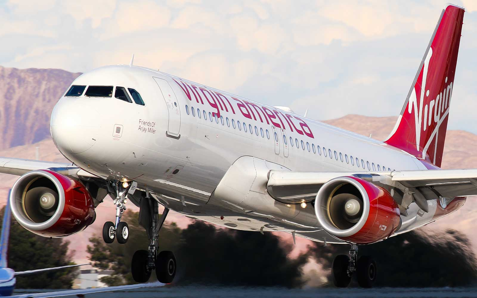Virgin America Airplane taking off