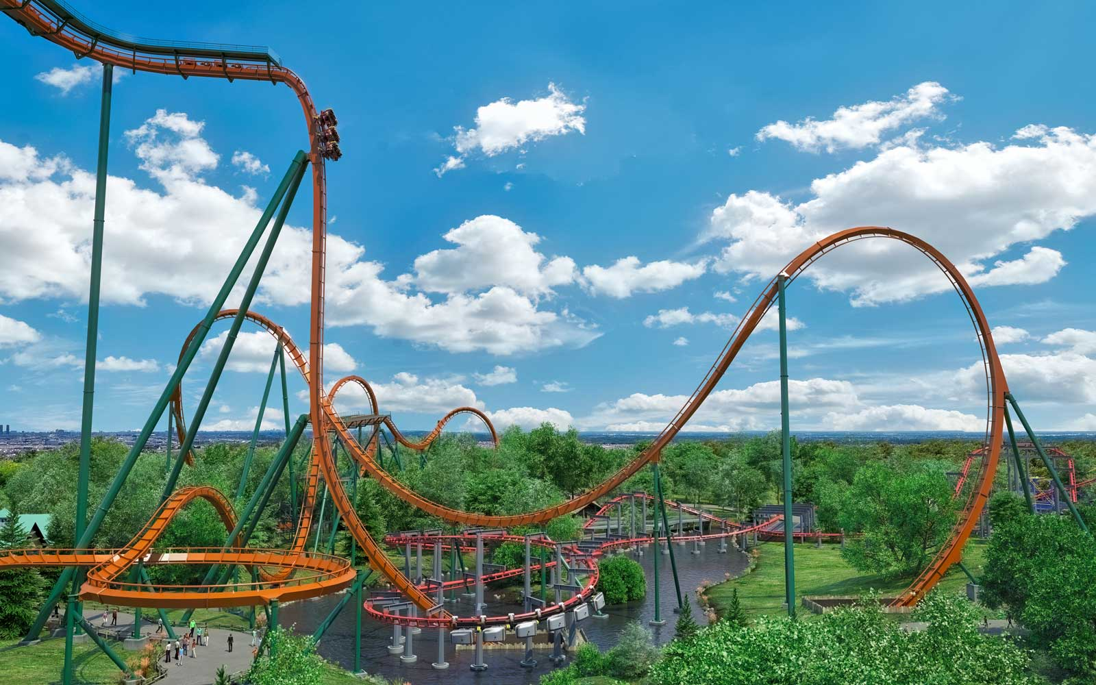 Yukon Striker at Canada's Wonderland World Record Roller Coaster